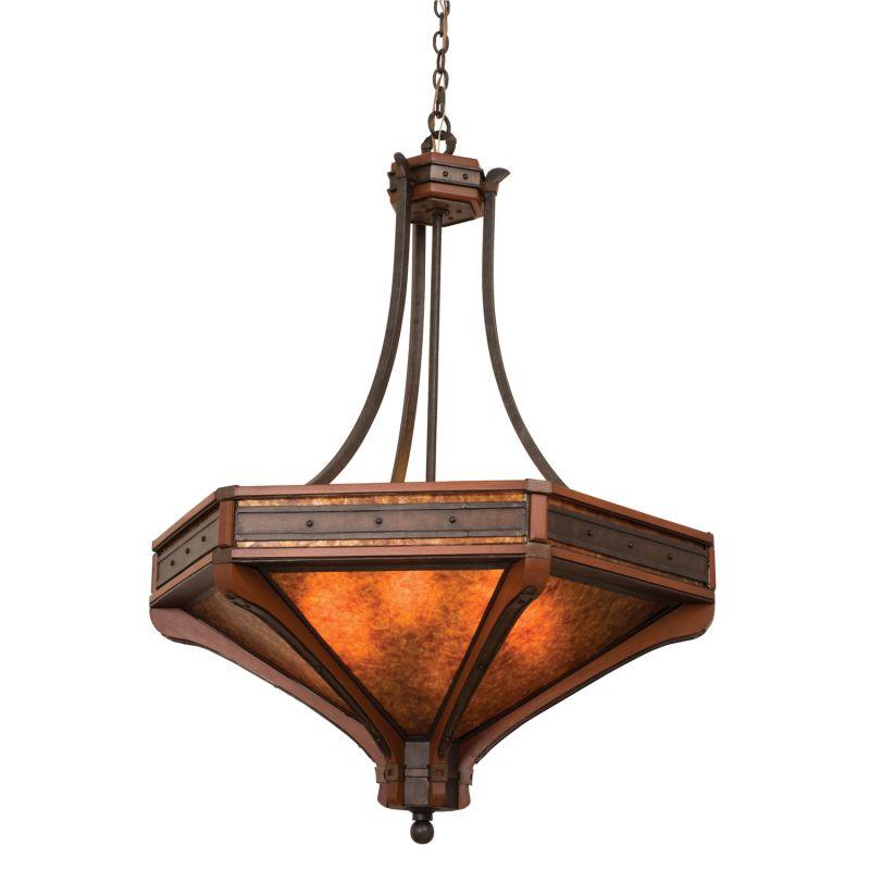 Kalco 5838NI Aspen 6 Light Pendant Natural Iron Indoor Lighting