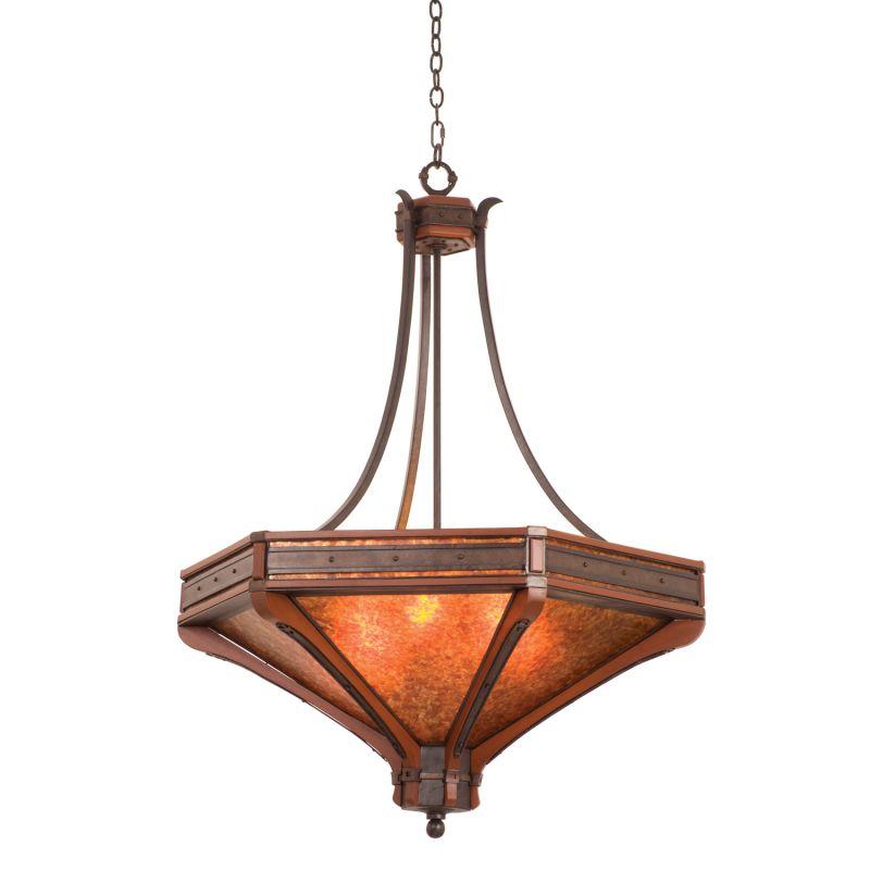Kalco 5839NI Aspen 6 Light Pendant Natural Iron Indoor Lighting