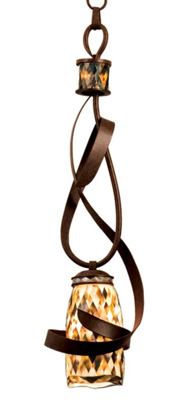 Kalco 6016AC/SHELL Monaco 1 Light Mini Pendant Antique Copper Indoor