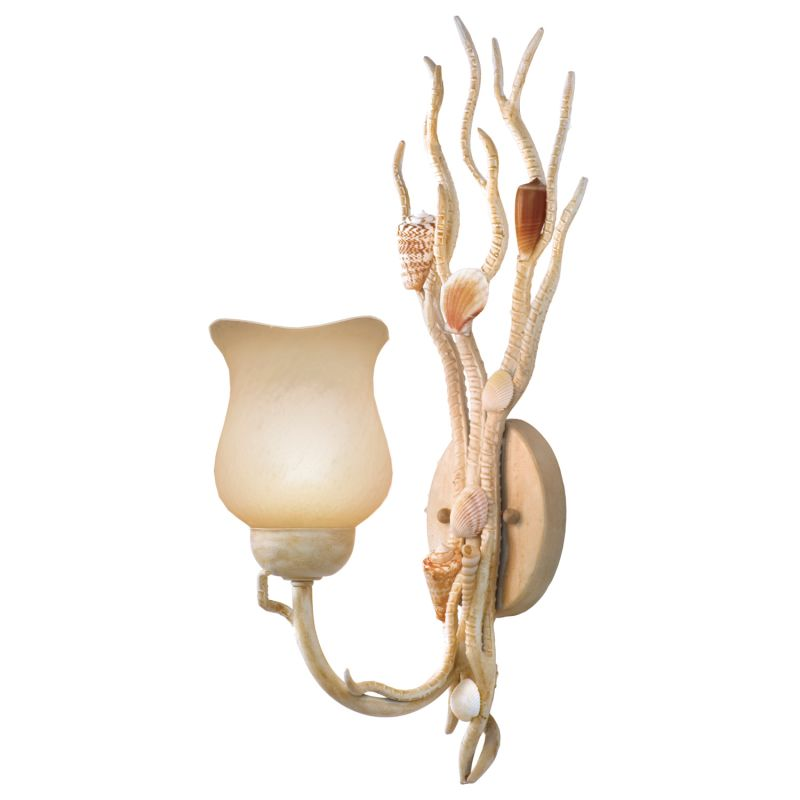 Kalco 6075CR Atlantis 1 Light Wall Sconce Coral Indoor Lighting Sale $218.00 ITEM: bci2595803 ID#:6075CR UPC: 720062030356 :