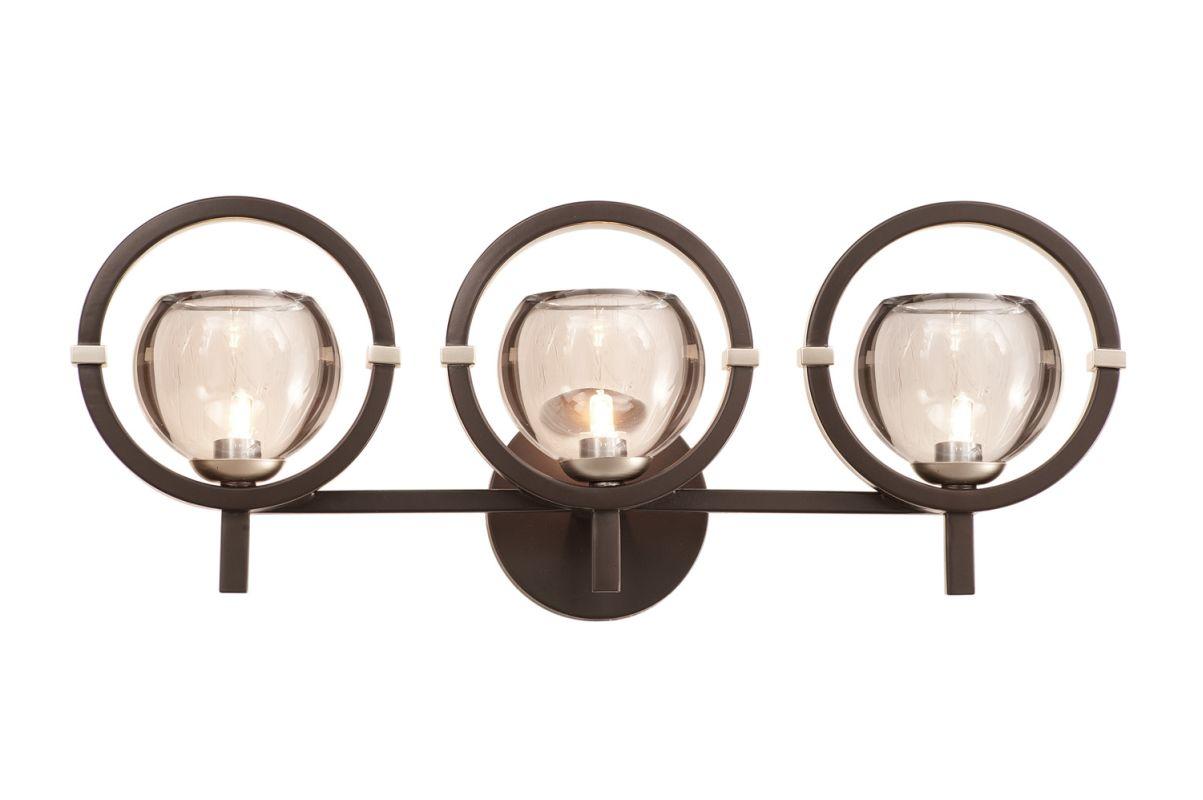 Kalco 6303OB-1 Lunaire 3 Light Wall Sconce Old Bronze Indoor Lighting