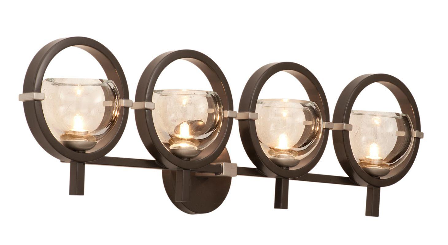 Kalco 6304OB-1 Lunaire 4 Light Wall Sconce Old Bronze Indoor Lighting