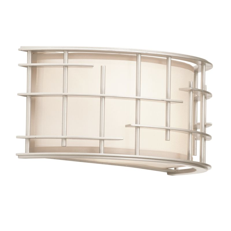 Kalco 6480TS Atelier 2 Light Flush Mount Wall Sconce Tarnished Silver