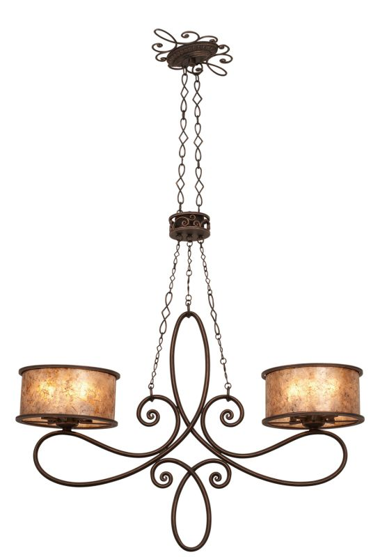 Kalco 6577AC Whitfield 10 Light Linear Chandelier Antique Copper