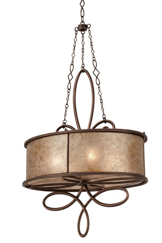 Kalco 6579AC Whitfield 4 Light 1 Tier Chandelier Antique Copper Indoor