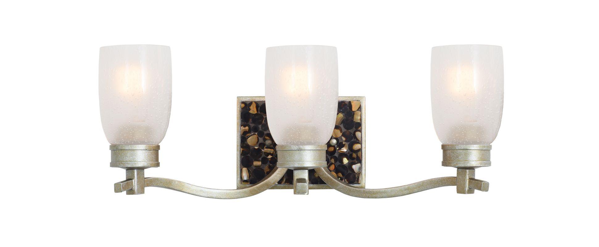 Kalco 7213TS Largo 3 Light Bathroom Vanity Light Tarnished Silver