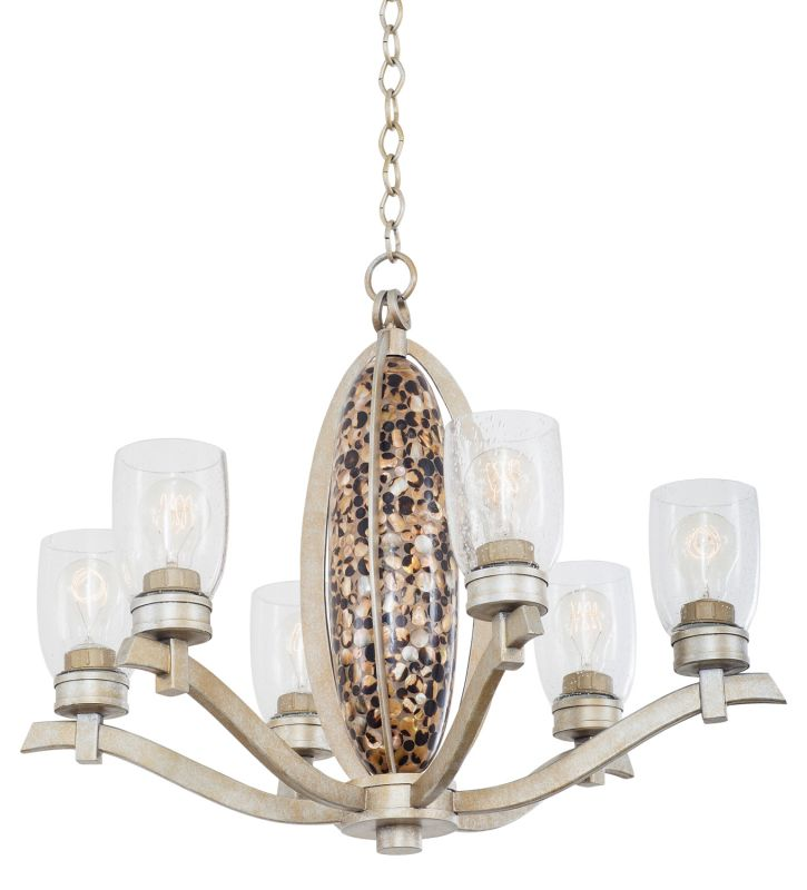 Kalco 7217TS Largo 6 Light 1 Tier Chandelier Tarnished Silver Indoor