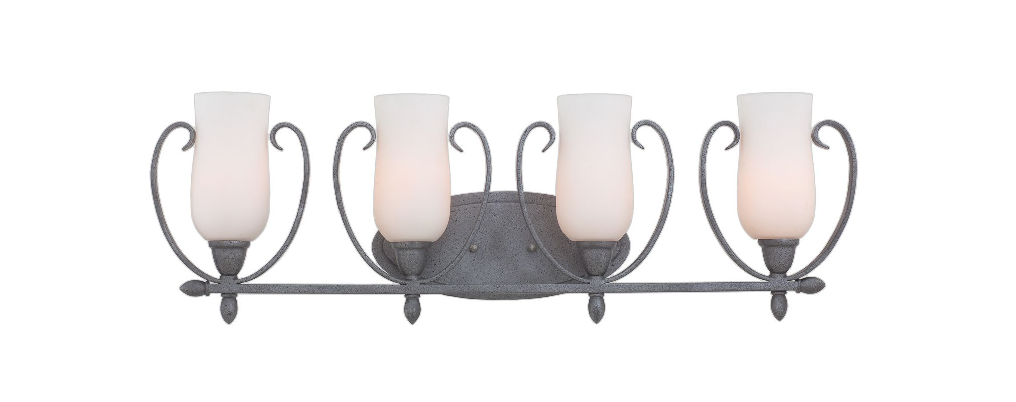 Kalco 7234FI/OPAL Mateo 4 Light Bathroom Vanity Light Flecked Iron Sale $250.00 ITEM: bci2593164 ID#:7234FI/OPAL UPC: 720062261521 :