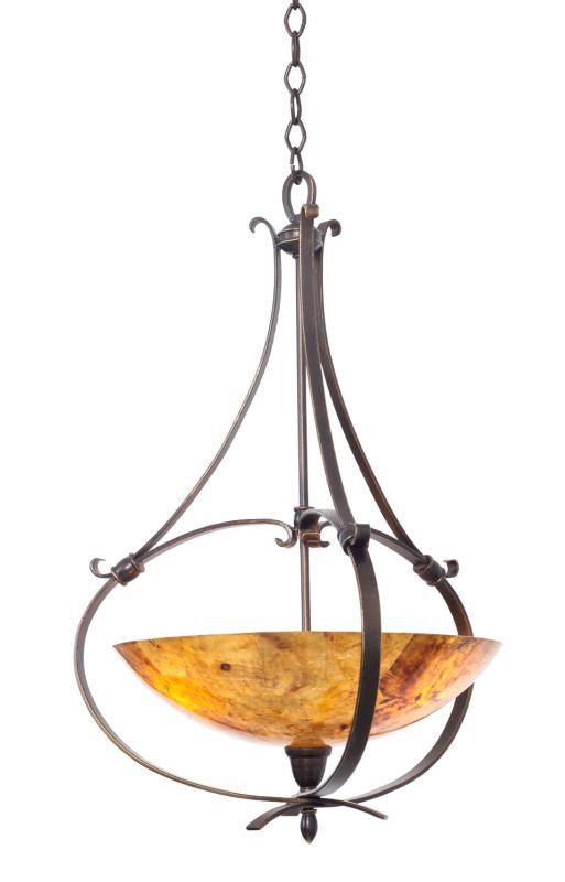 Kalco 7239HB/PENSH Mateo 3 Light Bowl Pendant Heirloom Bronze Indoor
