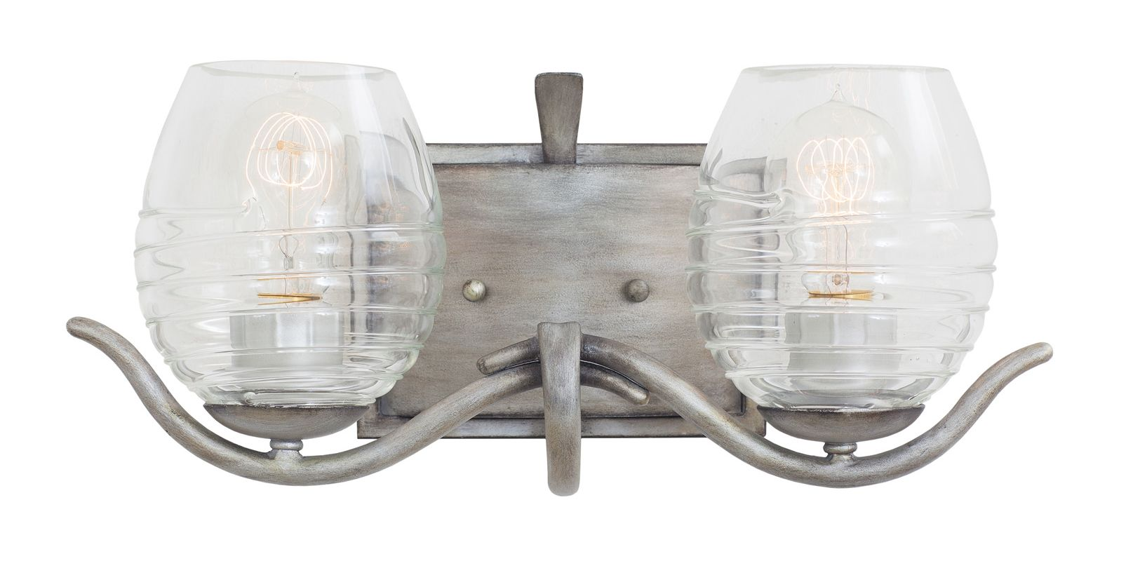 Kalco 7352SM Seabrook 2 Light Bathroom Vanity Light Moon Silver Indoor Sale $314.00 ITEM: bci2593172 ID#:7352SM UPC: 720062261842 :