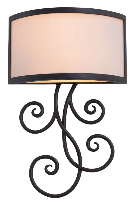 Kalco 7480BZ Concord 2 Light Single Wallchiere Sconce Bronze Indoor
