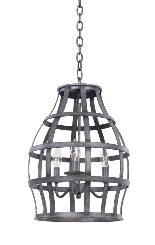 Kalco 7493 Townsend 3 Light Lantern Vintage Iron Indoor Lighting Foyer
