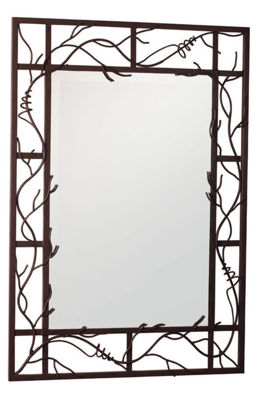 Kalco 830 Vine Rectangle Mirror Bark Home Decor Lighting