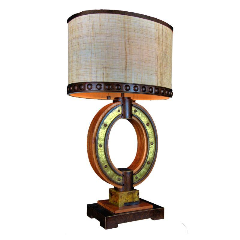 Kalco 895 Aspen 2 Light Oval Table Lamp Natural Iron Lamps
