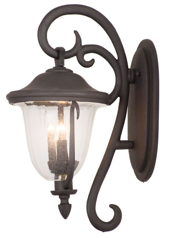 Kalco 9001MB Santa Barbara Outdoor 2 Light Wall Sconce Textured Matte
