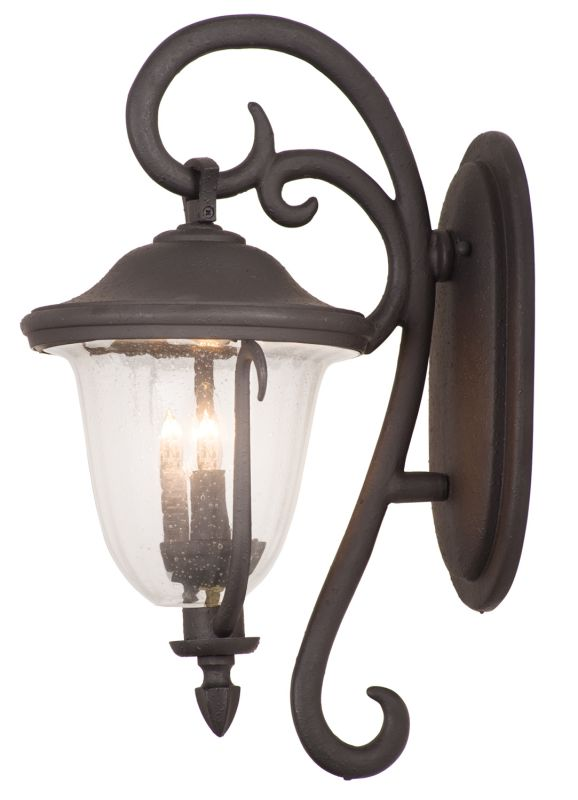 Kalco 9003MB Santa Barbara Outdoor 4 Light Wall Sconce Textured Matte