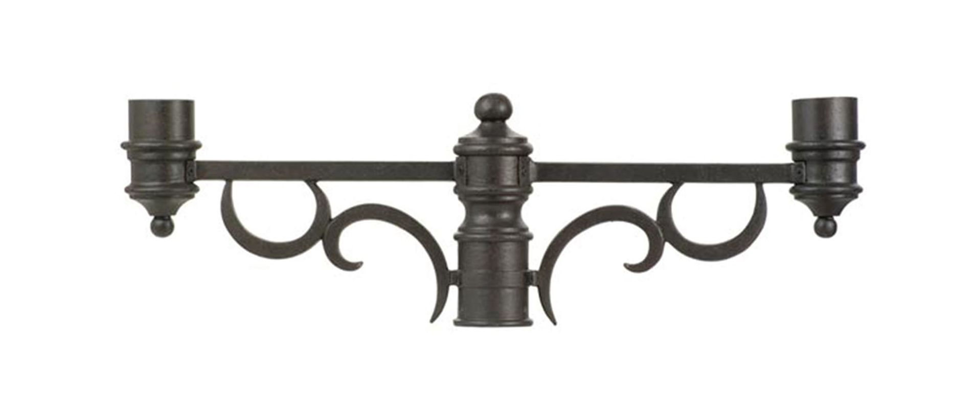 Kalco 9307 Outdoor Double Post Mount Bracket Textured Matte Black