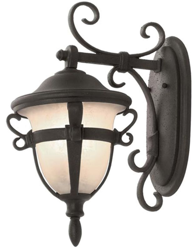 Kalco 9391MB Tudor Outdoor 2 Light Wall Sconce Textured Matte Black