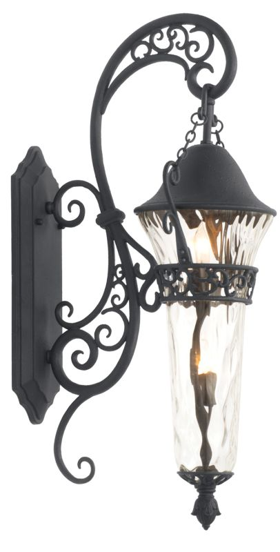 Kalco 9413MB Anastasia Outdoor 2 Light Wall Sconce Textured Matte