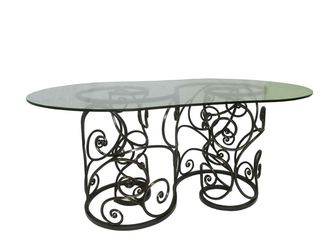 Kalco F780 Windsor Outdoor Dining Table Antique Copper Furniture