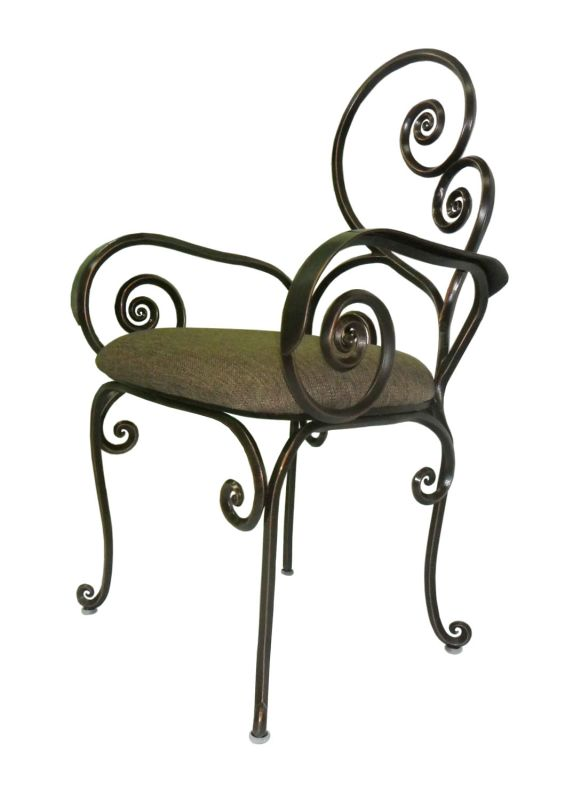 Kalco F781 Windsor Outdoor Chair Antique Copper Furniture Outdoor