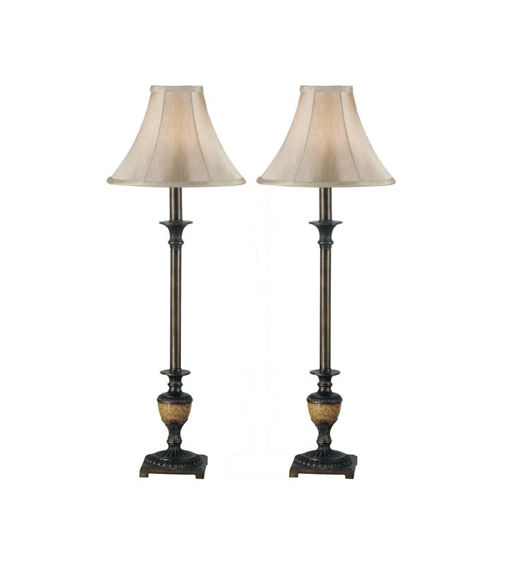 Kenroy Home 30944 Lamp Sets from the Emily Collection Crackle Bronze