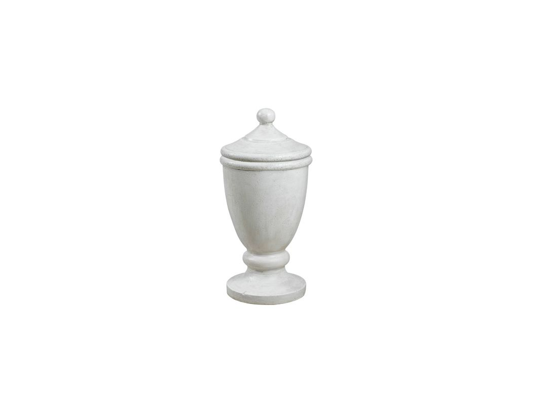 "Kenroy Home 60072 20.5"" Covered Garden Urn Roman White Home Decor"