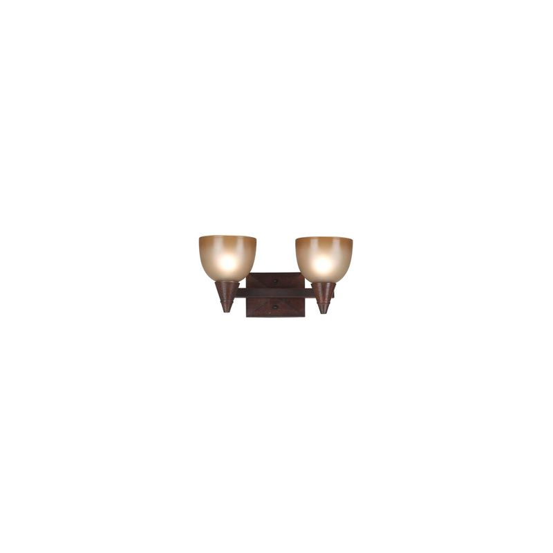 """Kenroy Home 92111 16"""" Wide Two Light Up Lighting Vanity from the Kyoto"""