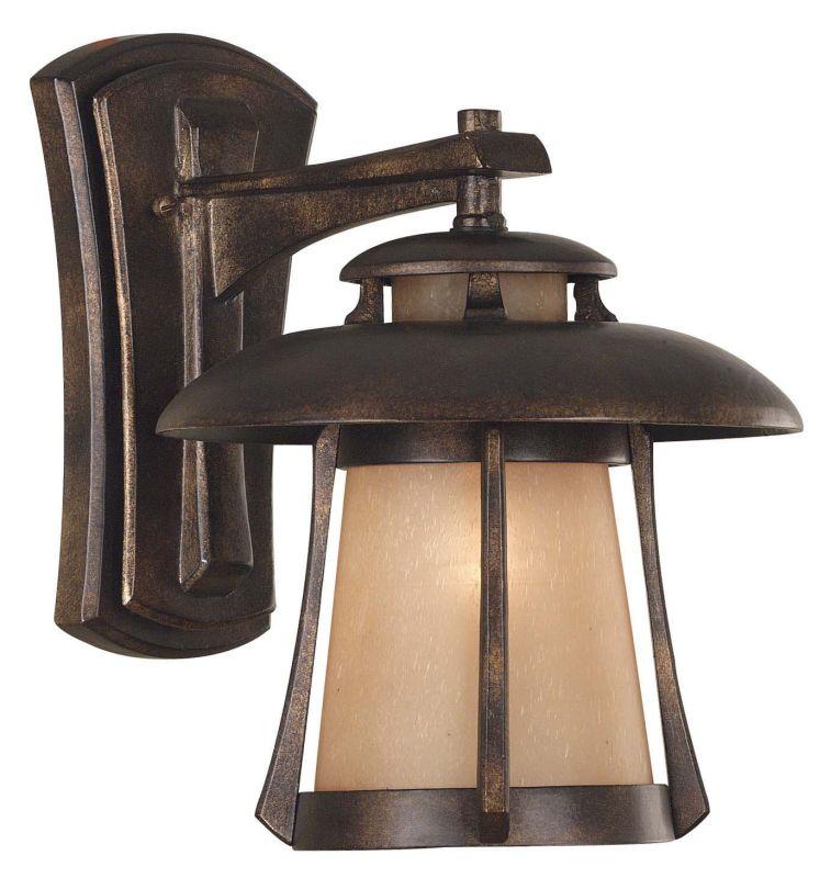 Kenroy Home 03195 Laguna 1 Light Medium Outdoor Wall Sconce Golden