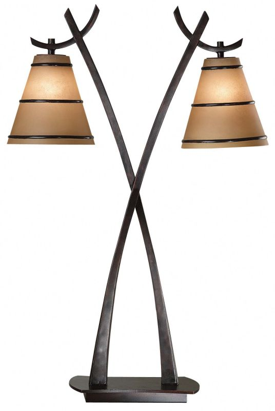 Kenroy Home 03334 Wright 2 Light Table Lamp Oil Rubbed Bronze Lamps