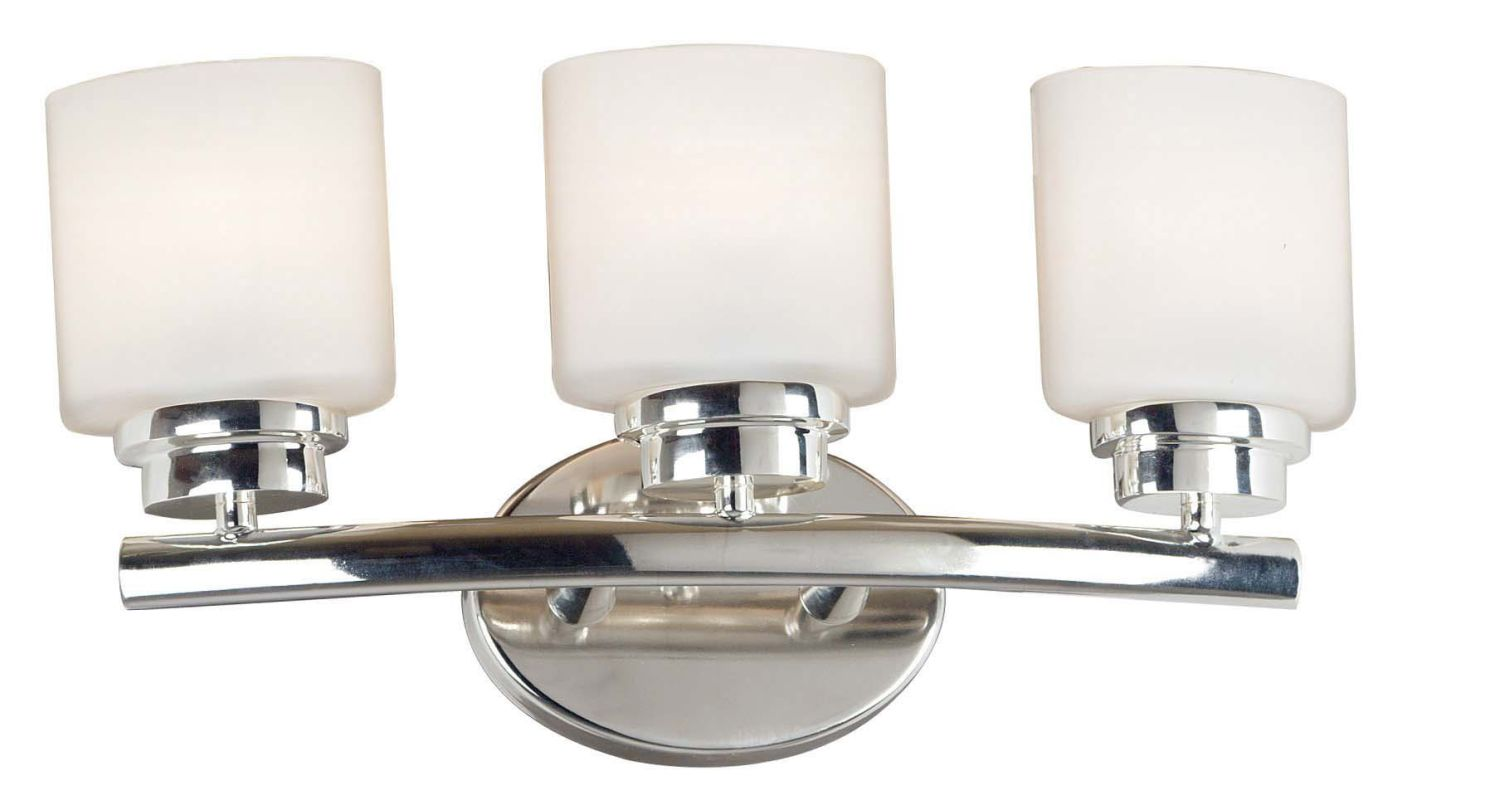 Kenroy Home 03392 Bow 3 Light Bathroom Vanity Light Polished Nickel Sale $108.00 ITEM: bci905900 ID#:3392 UPC: 53392033927 :