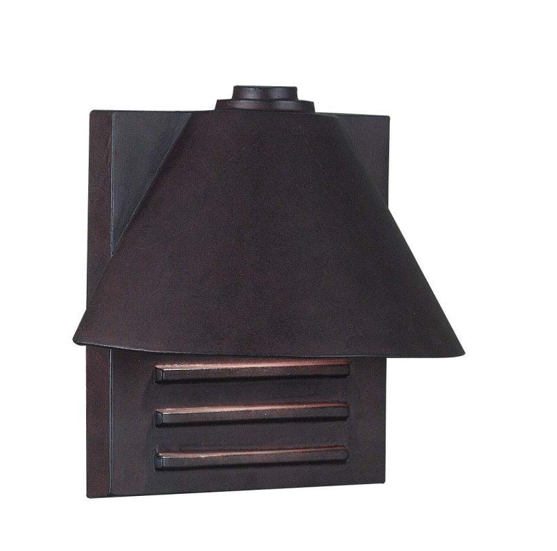 Kenroy Home 10160COP Fairbanks 1 Light Small Outdoor Wall Sconce with