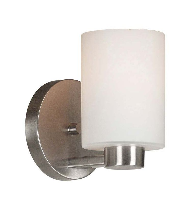 Kenroy Home 10181BS Encounters 1 Light Wall Sconce Brushed Steel