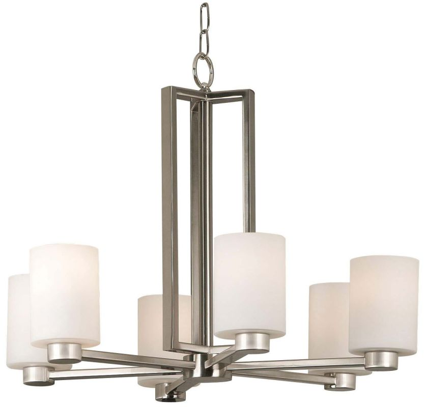 Kenroy Home 10186BS Encounters 6 Light 1 Tier Chandelier Brushed Steel