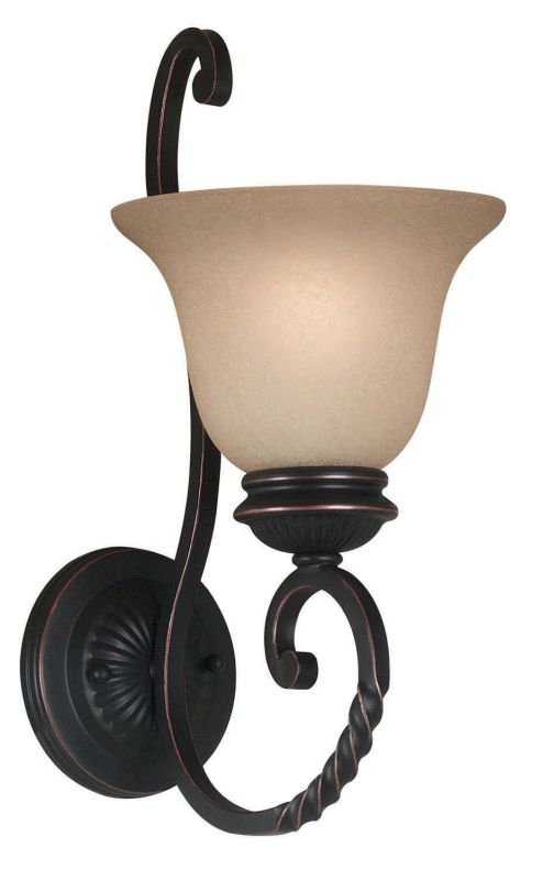 Kenroy Home 10192ORB Oliver 1 Light Wall Sconce Oil Rubbed Bronze