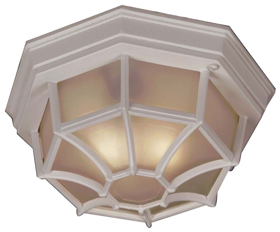 Kenroy Home 16289-LQ Dural 2 Light Flush Mount Ceiling Fixture White
