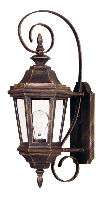 Kenroy Home 16312 Estate 1 Light Small Outdoor Wall Sconce Antique