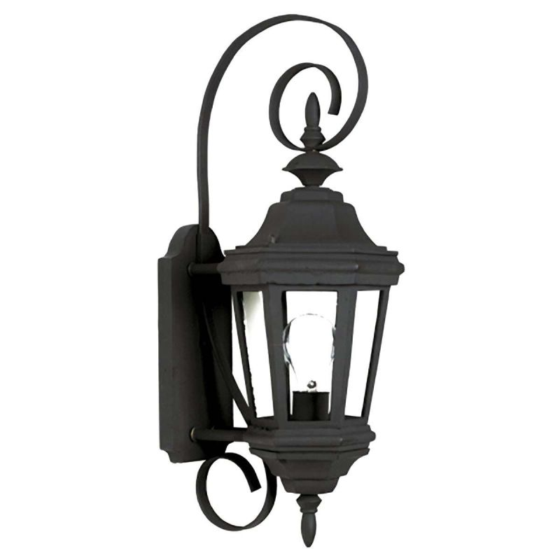 Kenroy Home 16312 Estate 1 Light Small Outdoor Wall Sconce Black