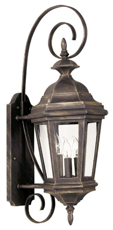 Kenroy Home 16313 Estate 3 Light Medium Outdoor Wall Sconce Antique