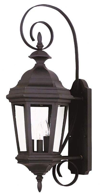 Kenroy Home 16313 Estate 3 Light Medium Outdoor Wall Sconce Black