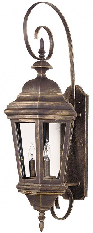 Kenroy Home 16314 Estate 3 Light Large Outdoor Wall Sconce Antique