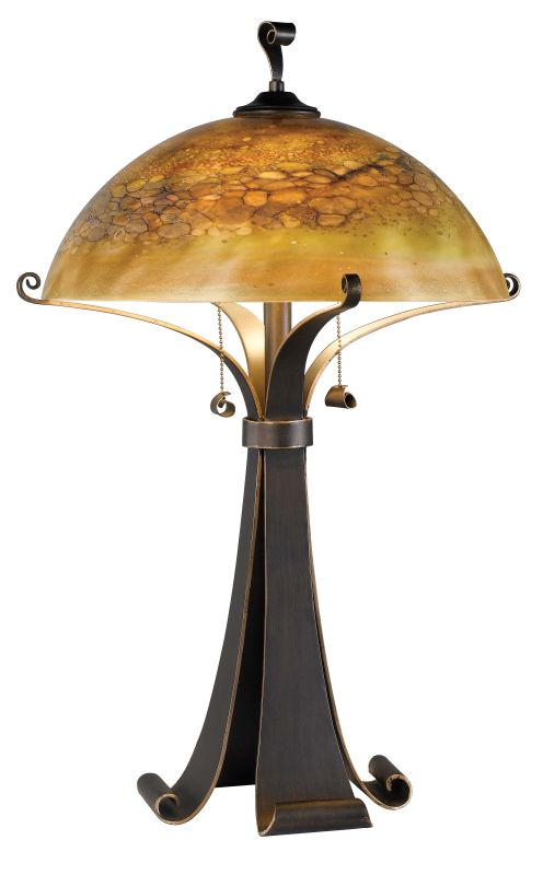 Kenroy Home 20085 Santa Fe 2 Light Table Lamp Chocolate Caramel Lamps