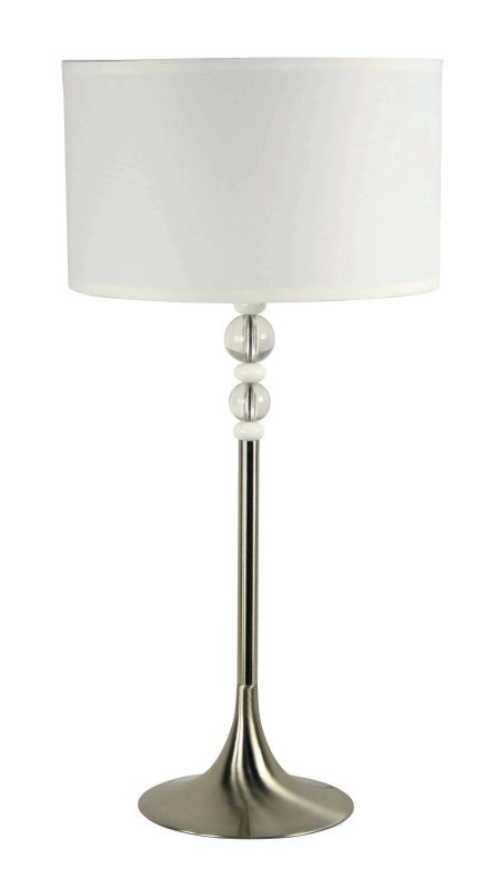 Kenroy Home 20118BS Luella 1 Light Table Lamp Brushed Steel Lamps