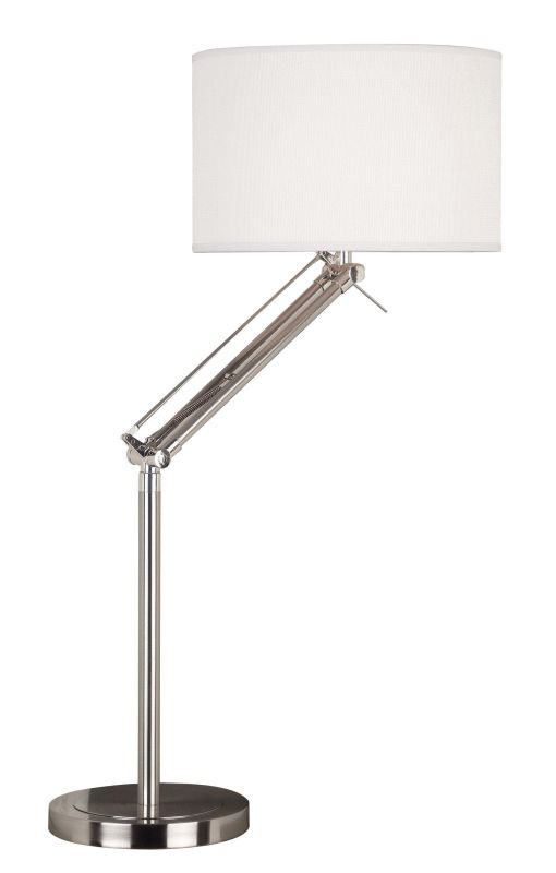 Kenroy Home 20122BS Hydra 1 Light Swing Arm Table Lamp Brushed Steel