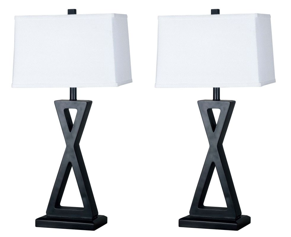 Kenroy Home 20138ORB Pack of 2 Logan 1 Light Lamp Set Oil Rubbed