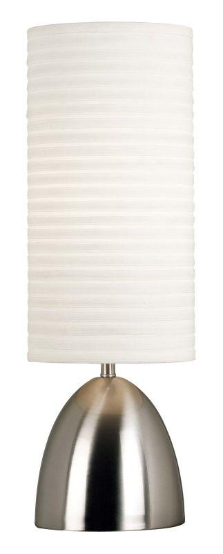 Kenroy Home 20200 Bandeau 1 Light Table Lamp Brushed Steel Lamps