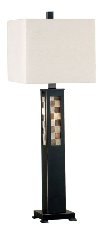 Kenroy Home 20280 Windowpane 1 Light Table Lamp Oil Rubbed Bronze