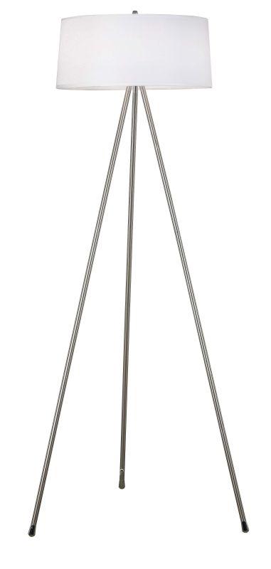 Kenroy Home 20331BS Stilts 2 Light Tripod Floor Lamp Brushed Steel