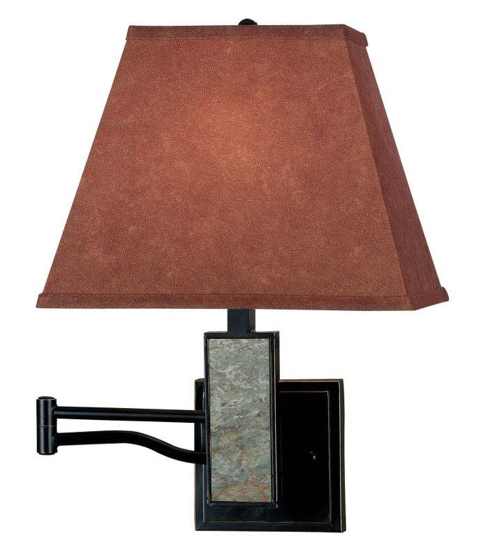Kenroy Home 20382 Dakota 1 Light Plug In Wall Sconce Oil Rubbed Bronze