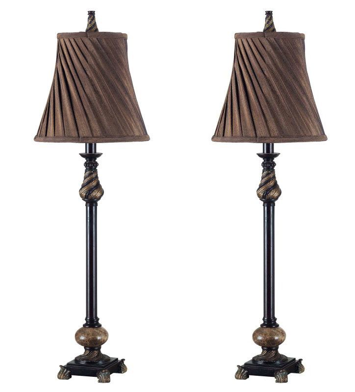 Kenroy Home 20466 Pack of 2 Aruba 1 Light Buffet Lamps Oil Rubbed